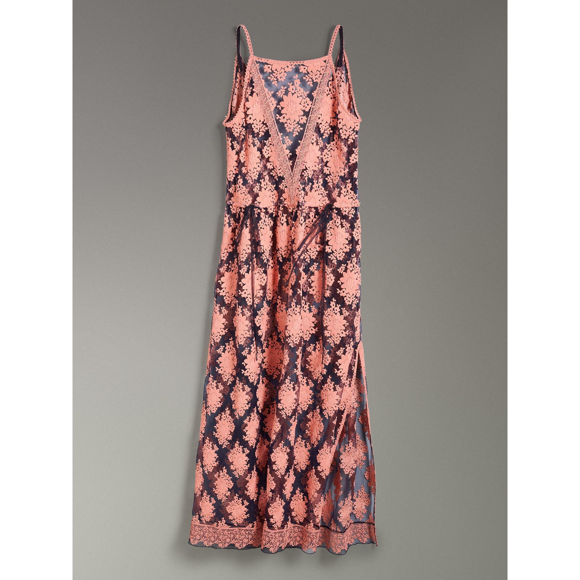 Floral-embroidered Sleeveless Dress in Rose/midnight Blue - Women | Burberry - gallery image 3