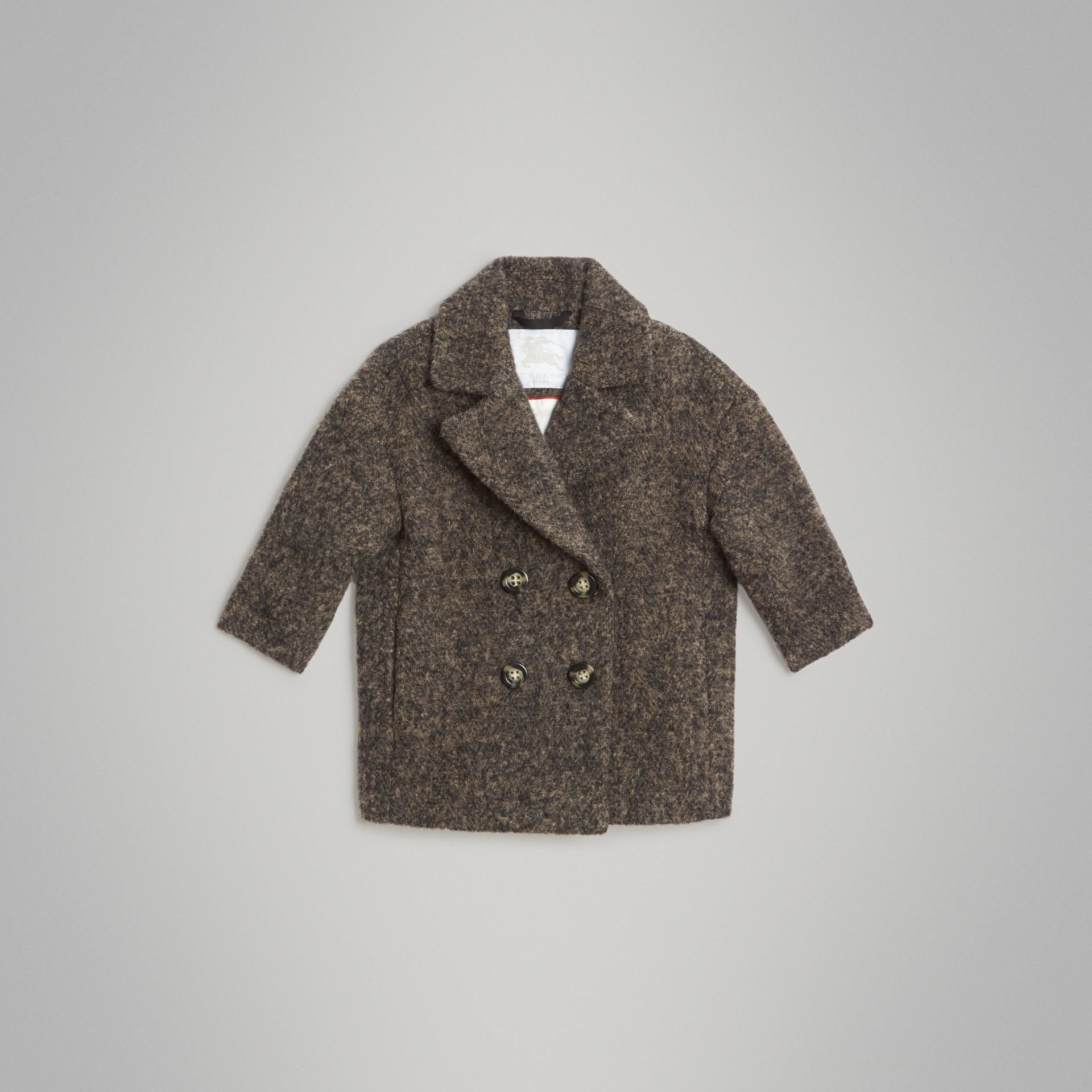 Wool Alpaca Blend Tailored Coat in Brown | Burberry United Kingdom - gallery image 0