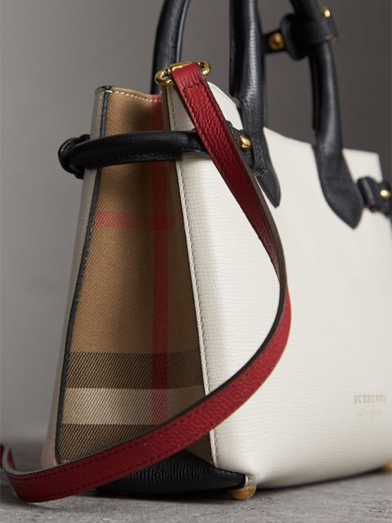 The Small Banner in Leather and House Check - Women | Burberry - cell image 3