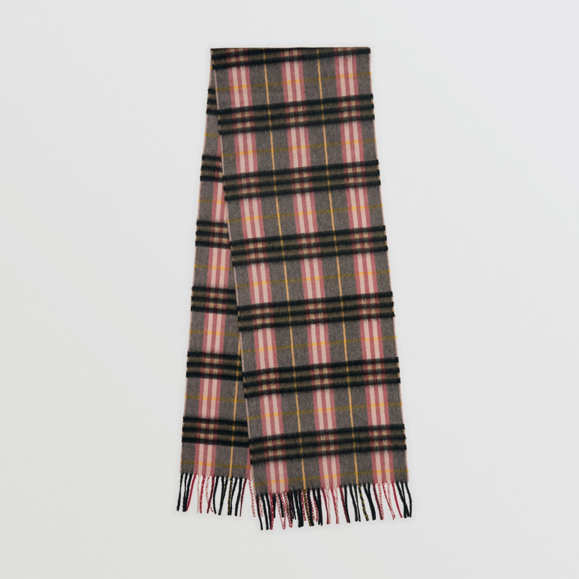 Check Cashmere Scarf in Ash Rose | Burberry United Kingdom - gallery image 0
