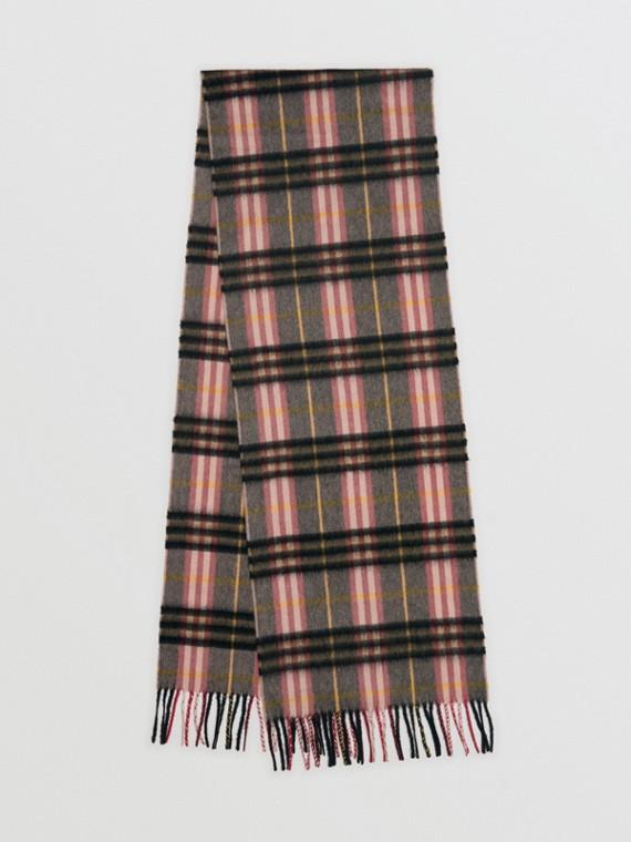 格紋喀什米爾圍巾 (煙燻玫瑰色)