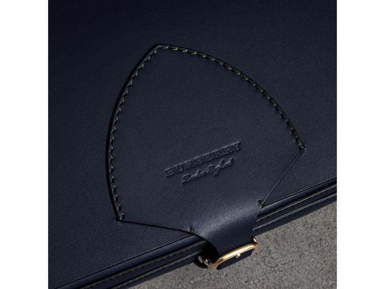 The Large Square Satchel in Leather in Mid Indigo - Women | Burberry United States - cell image 1