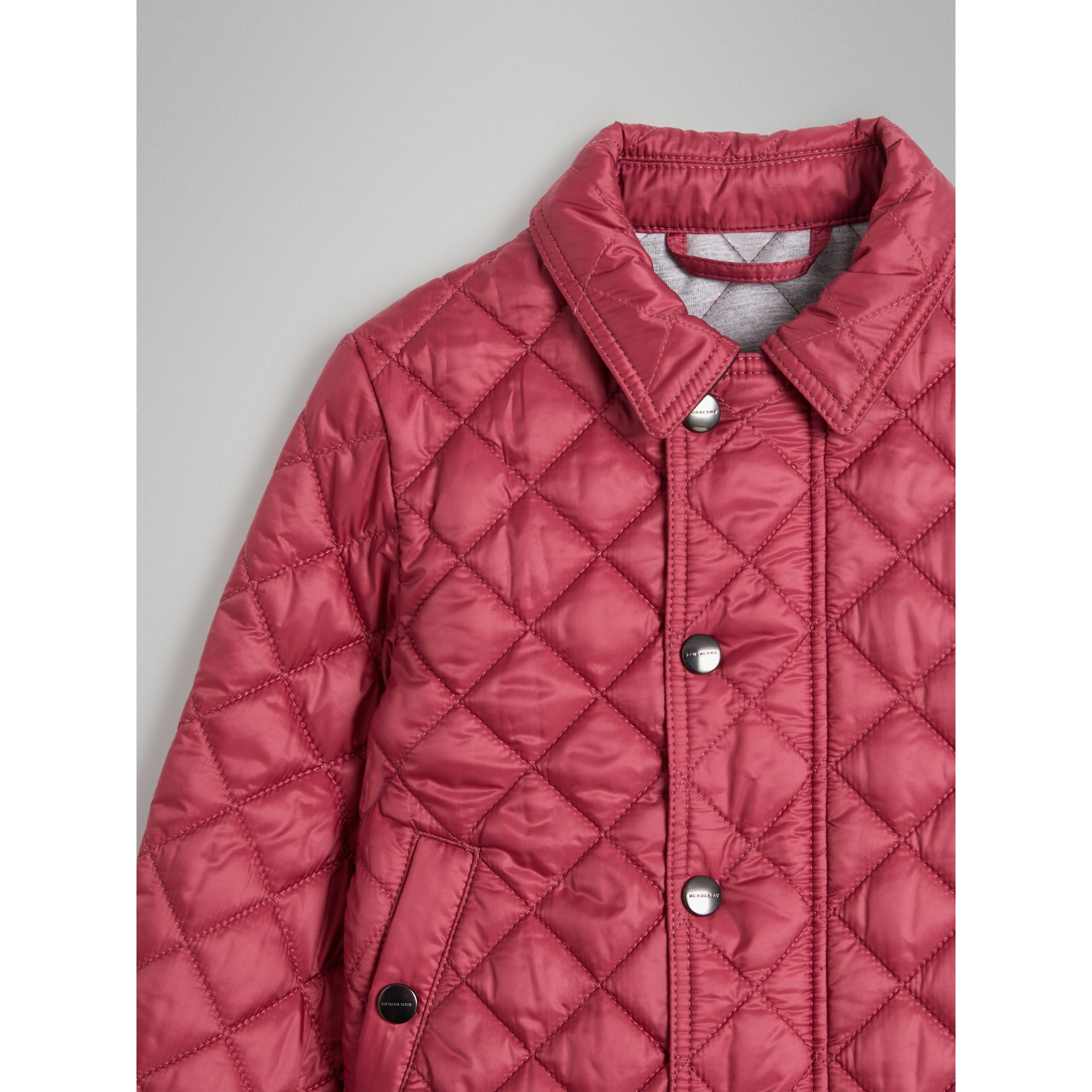 Lightweight Diamond Quilted Jacket in Peony Rose - Girl | Burberry United Kingdom - gallery image 4
