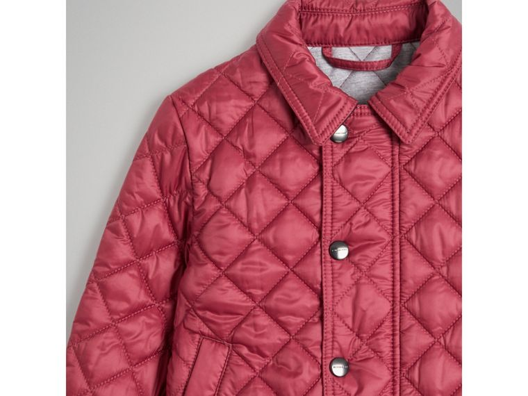 Lightweight Diamond Quilted Jacket in Peony Rose - Girl | Burberry United Kingdom - cell image 4