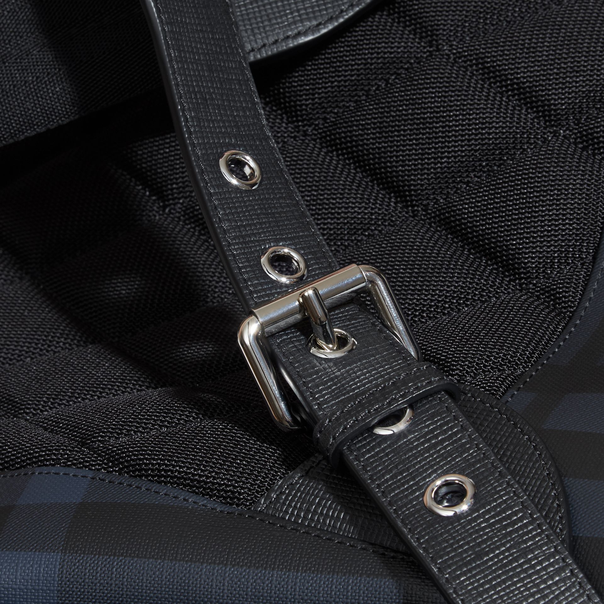 The Large Rucksack in London Check and  Leather - gallery image 6