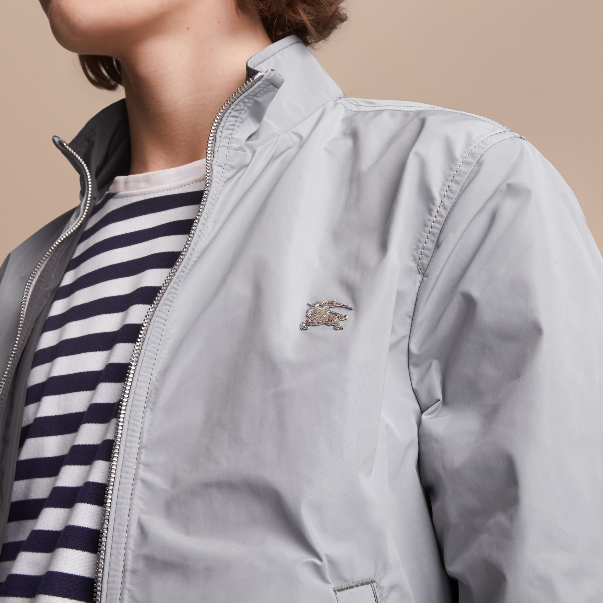 Lightweight Technical Jacket in Light Grey - Men | Burberry - gallery image 5