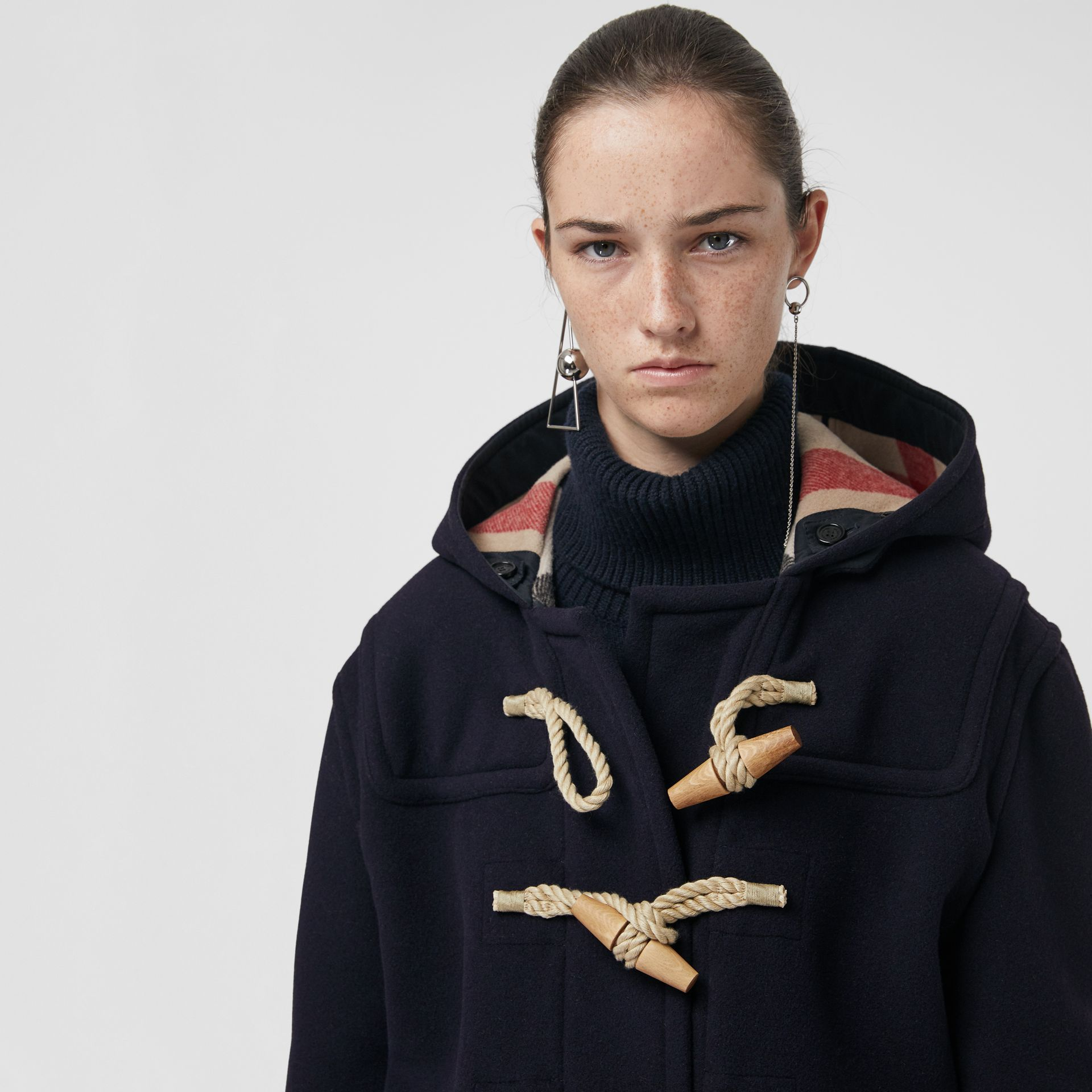 The Greenwich Duffle Coat in Navy - Women | Burberry Australia - gallery image 1