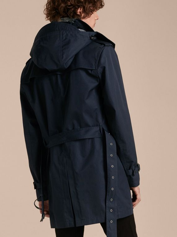 Ink Cotton Trench Coat with Detachable Hood Ink - cell image 2