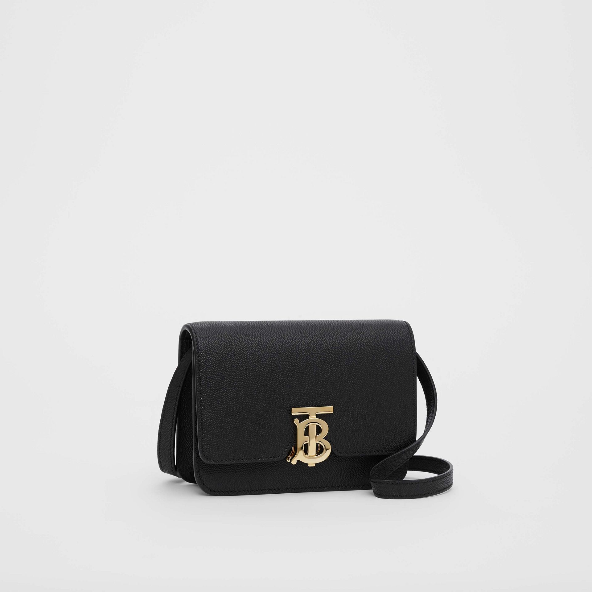 Mini Grainy Leather TB Bag in Black - Women | Burberry - gallery image 4