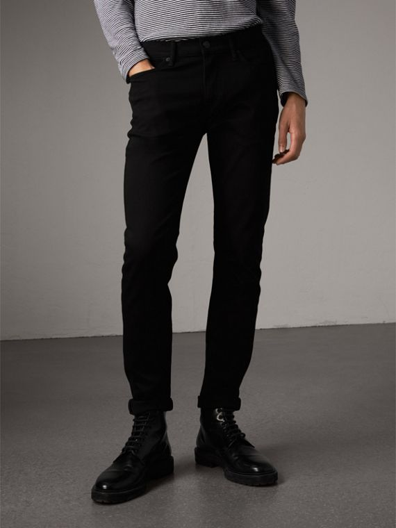 Jean denim extensible de coupe étroite - Homme | Burberry
