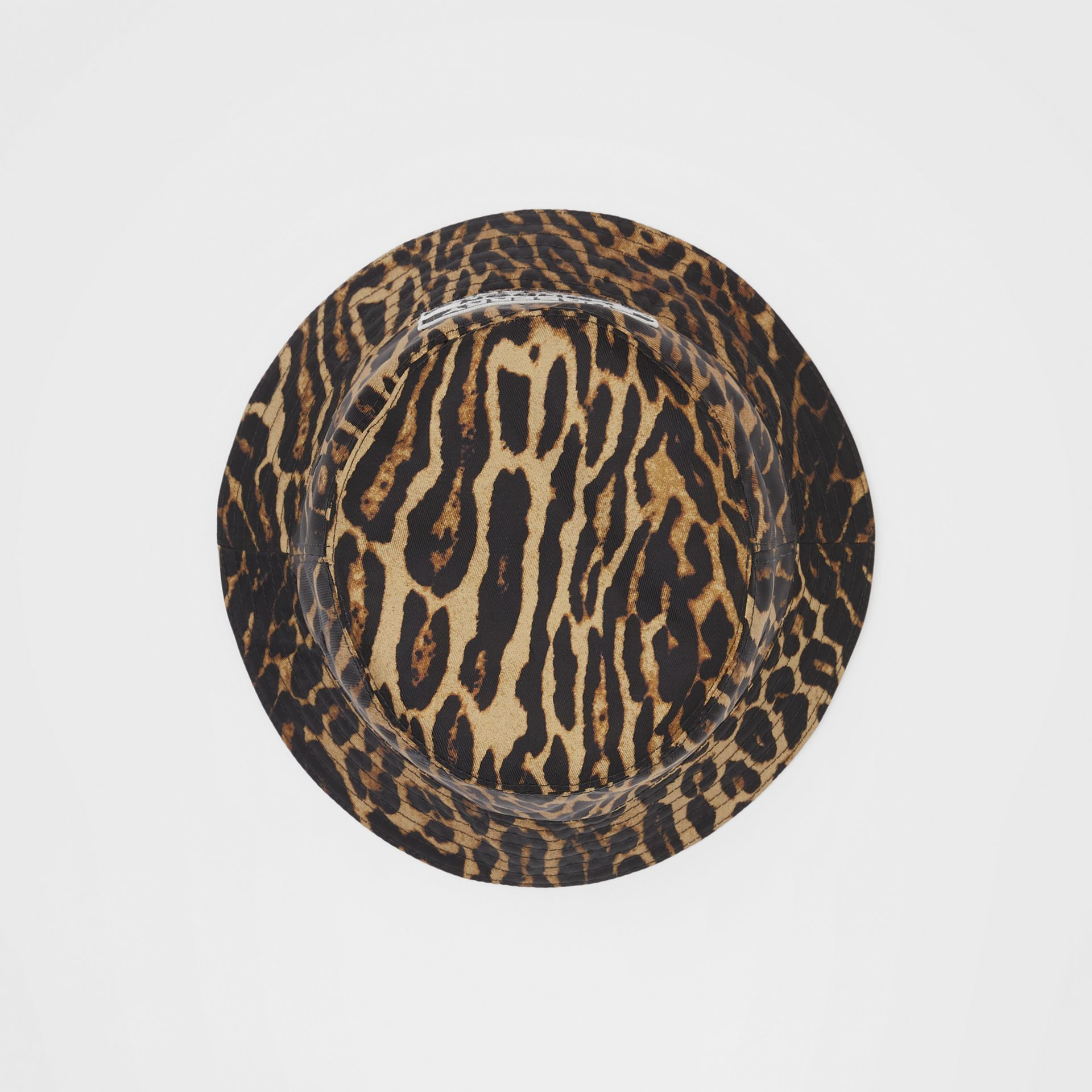 Reversible Logo Appliqué Leopard Print Bucket Hat | Burberry Singapore - gallery image 0