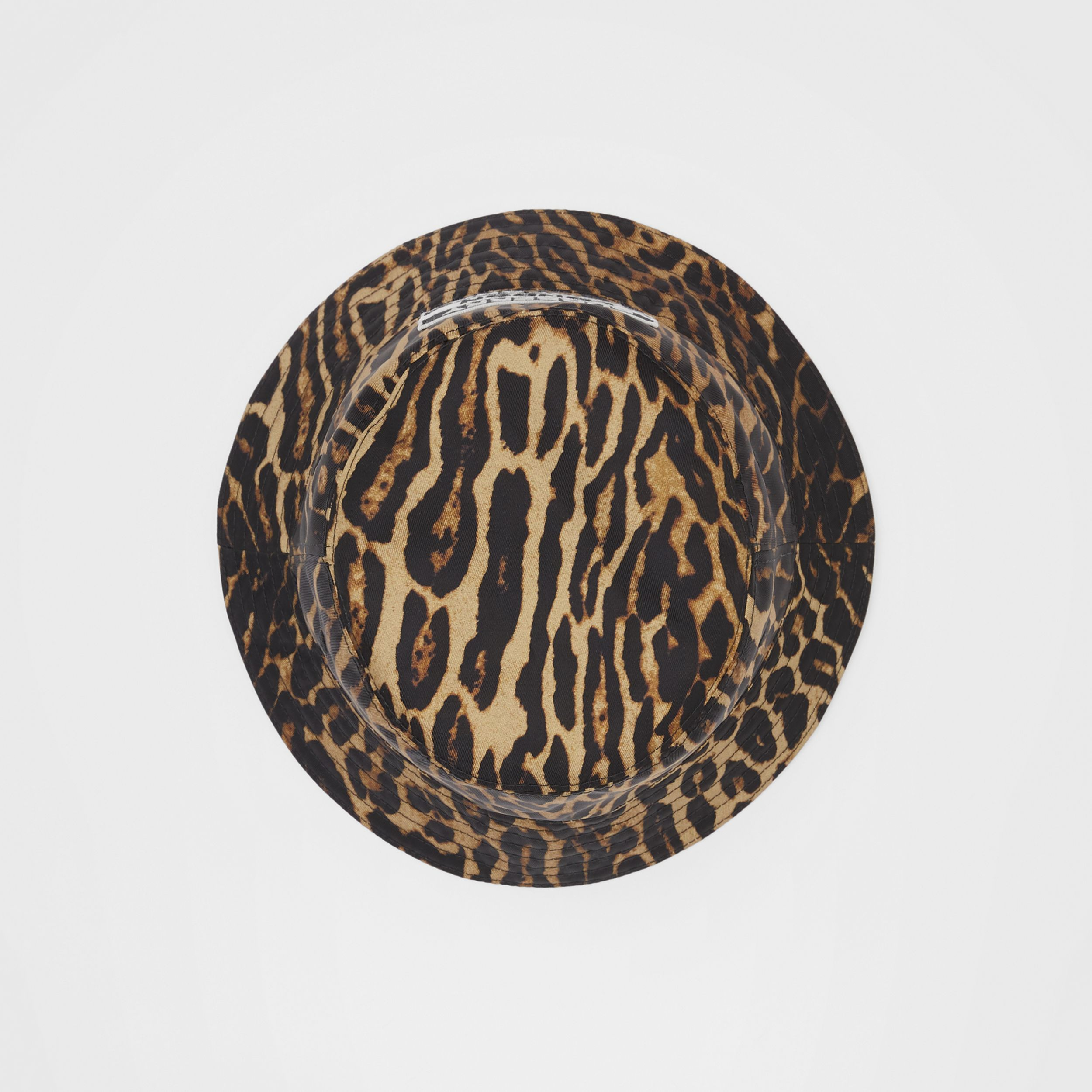 Reversible Logo Appliqué Leopard Print Bucket Hat | Burberry - 1
