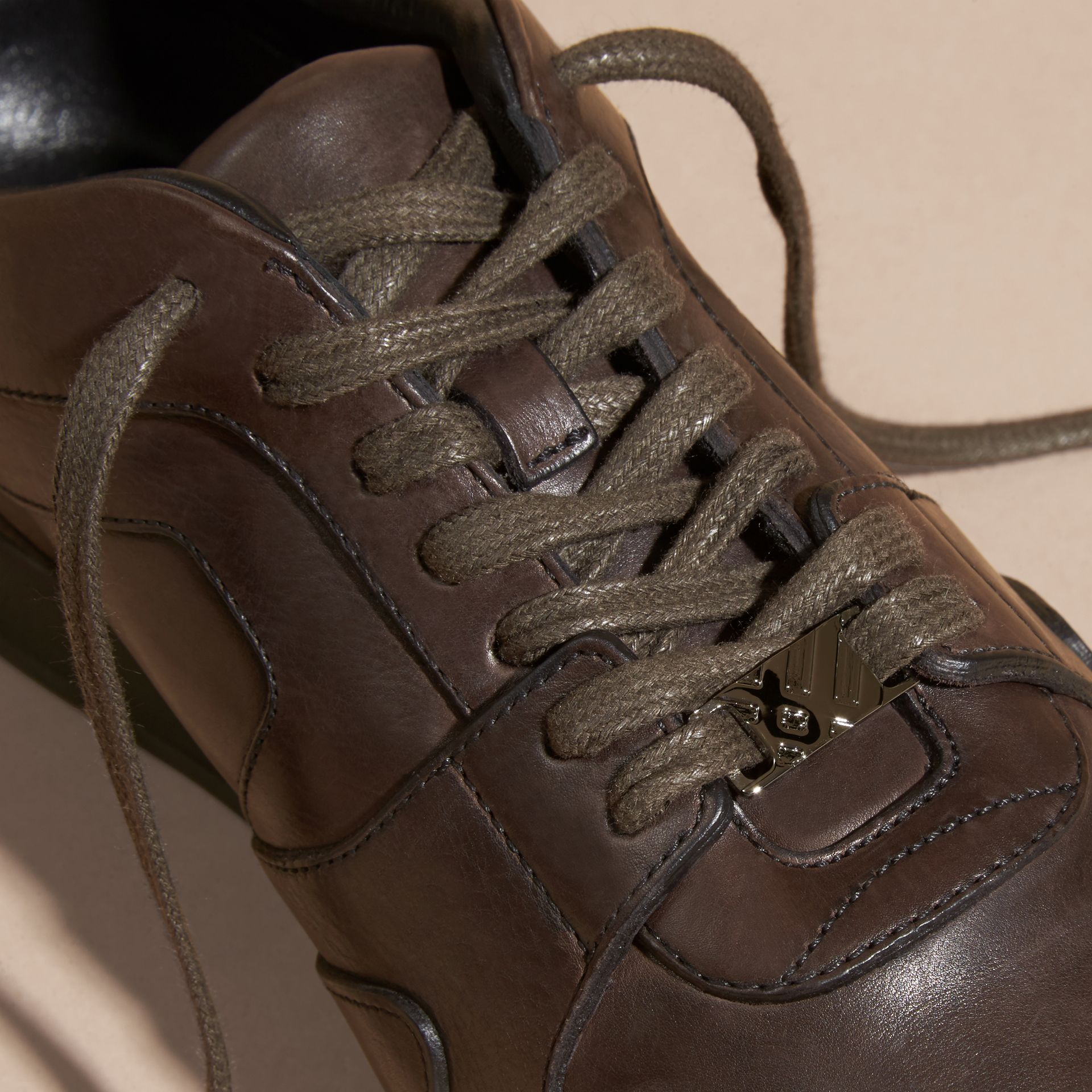 Peppercorn The Field Sneaker in Leather Peppercorn - gallery image 2