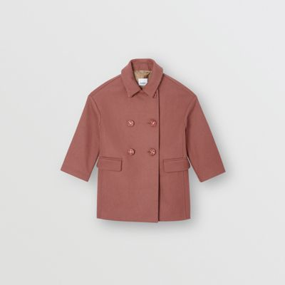 Melton Wool Tailored Pea Coat by Burberry