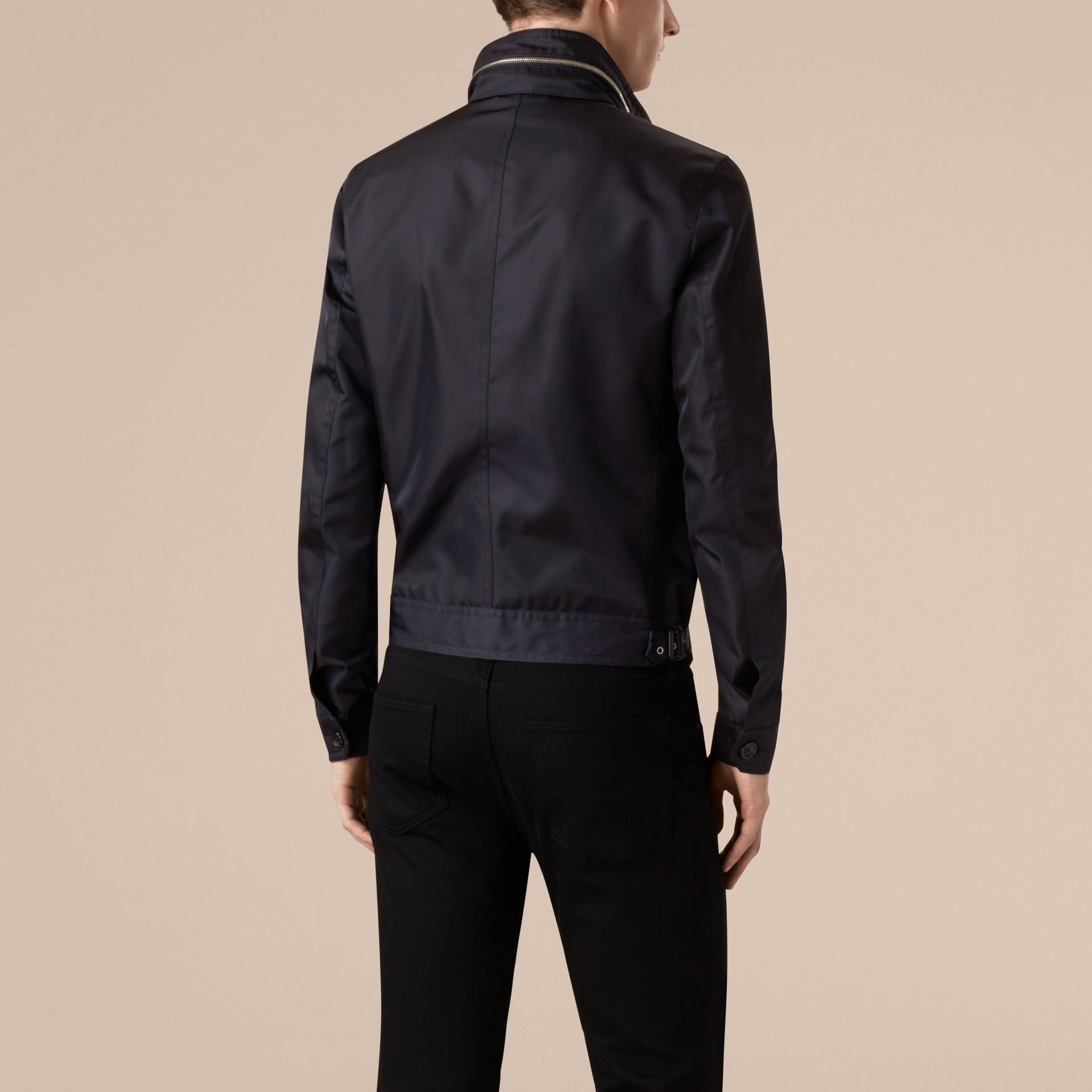 Темно-синий Куртка со складным капюшоном - изображение 3