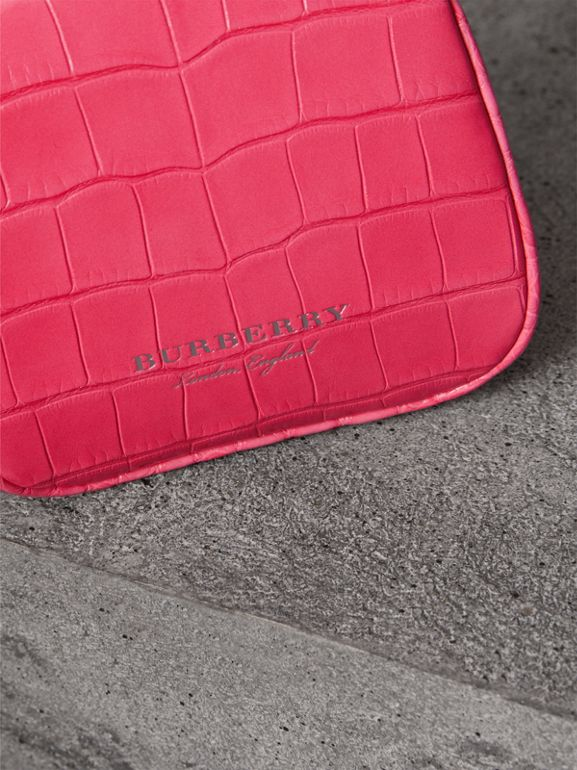 Mini Alligator Frame Bag in Neon Pink - Women | Burberry Canada - cell image 1