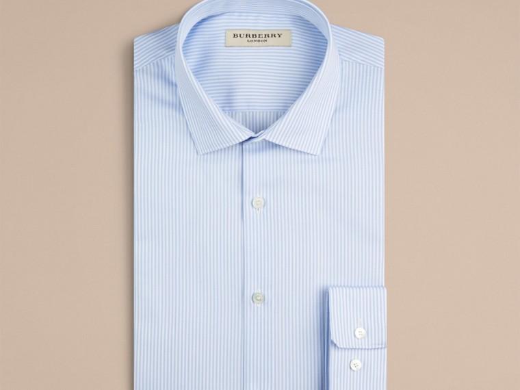 Azzurro pallido Camicia sfiancata in cotone a righe - cell image 1
