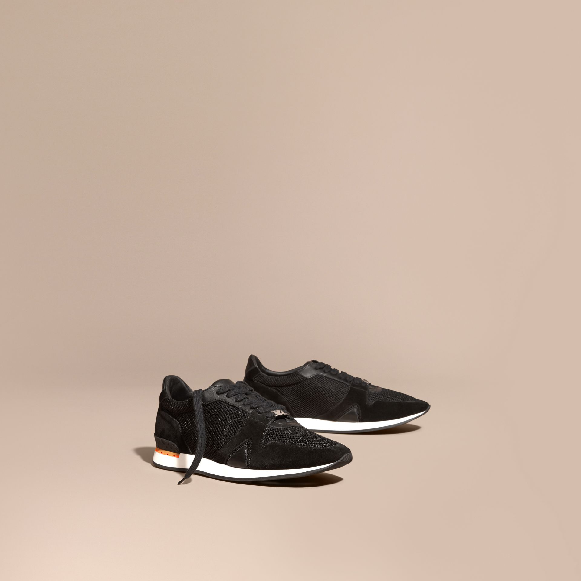 Black The Field Sneaker in Suede and Mesh Black - gallery image 1