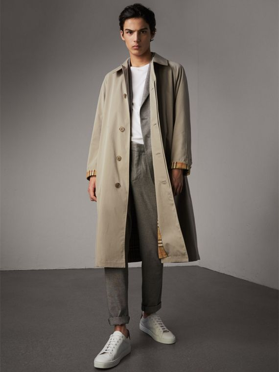 The Brighton – Extra-long Car Coat in Sandstone - Men | Burberry
