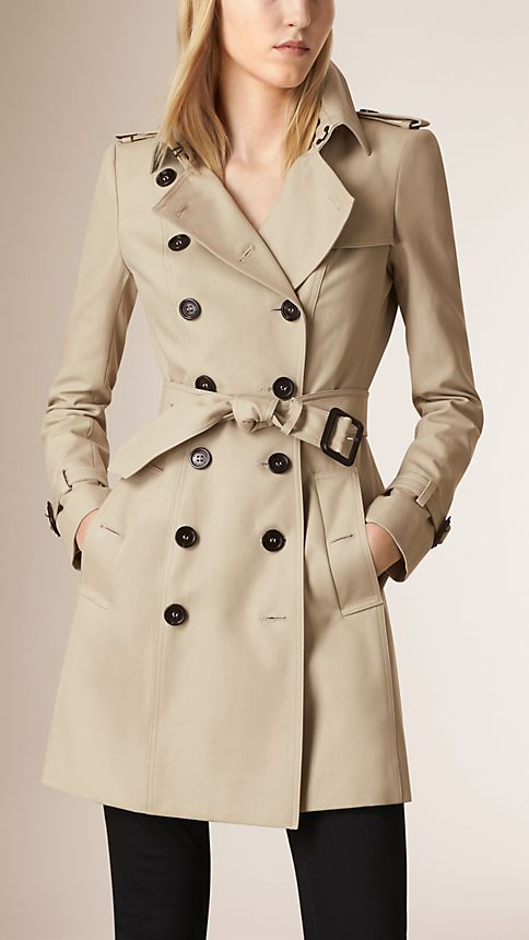 Trench Trench-coat en double sergé de coton - Image 1