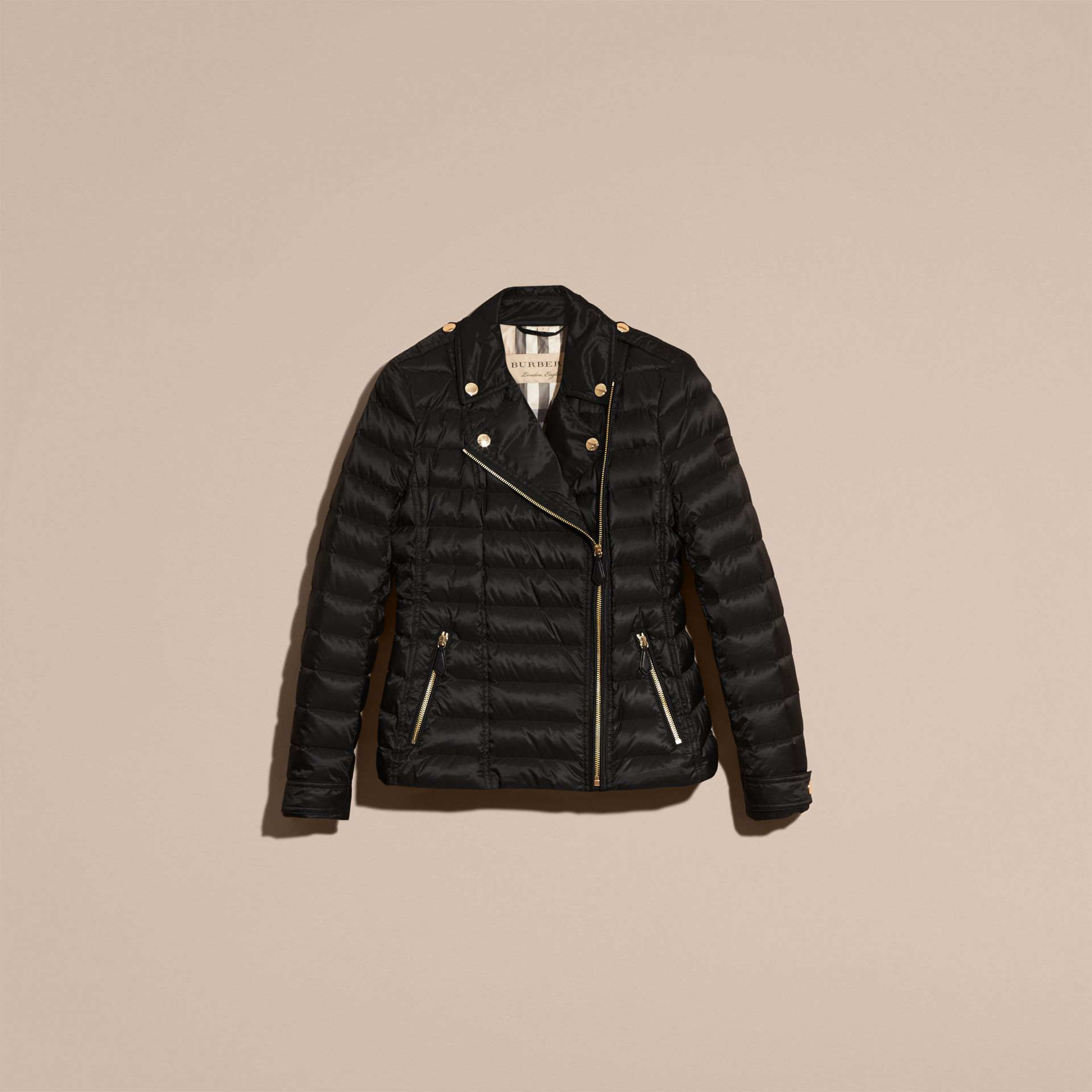 Black Lightweight Down-filled Puffer Jacket - gallery image 4