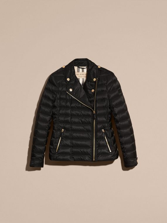Black Lightweight Down-filled Puffer Jacket - cell image 3