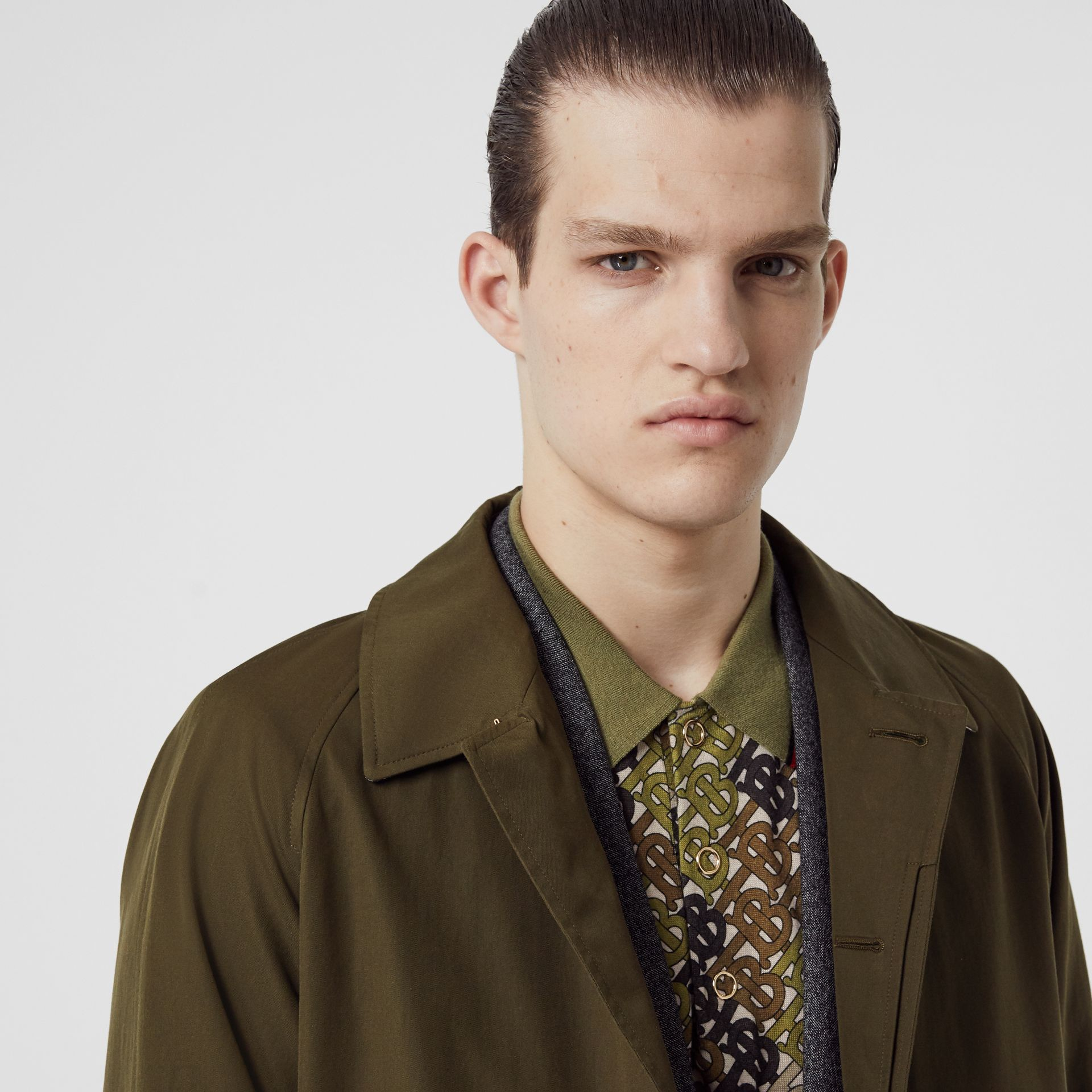 The Camden Car Coat in Dark Military Khaki - Men | Burberry - gallery image 1