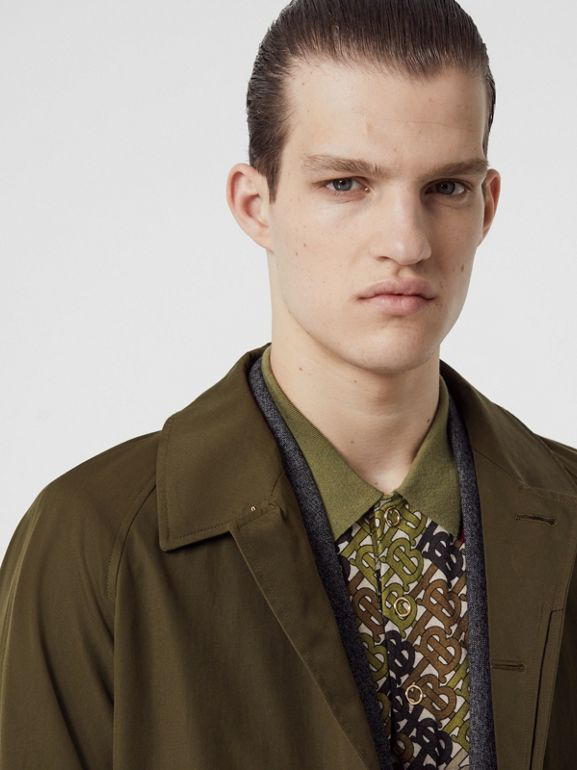 The Camden Car Coat in Dark Military Khaki - Men | Burberry Australia - cell image 1