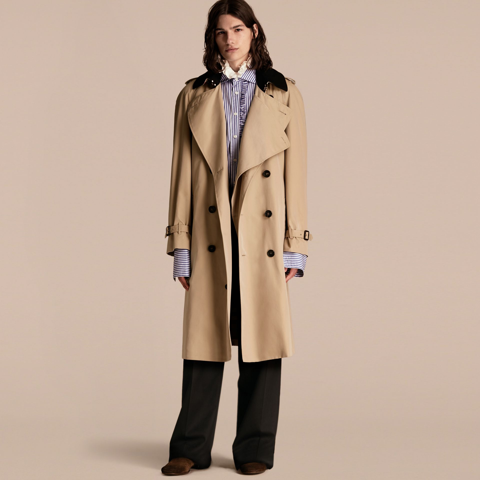 Honey Deconstructed Cotton Gabardine Heritage Trench Coat - gallery image 1