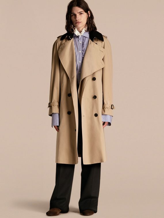 Deconstructed Cotton Gabardine Heritage Trench Coat