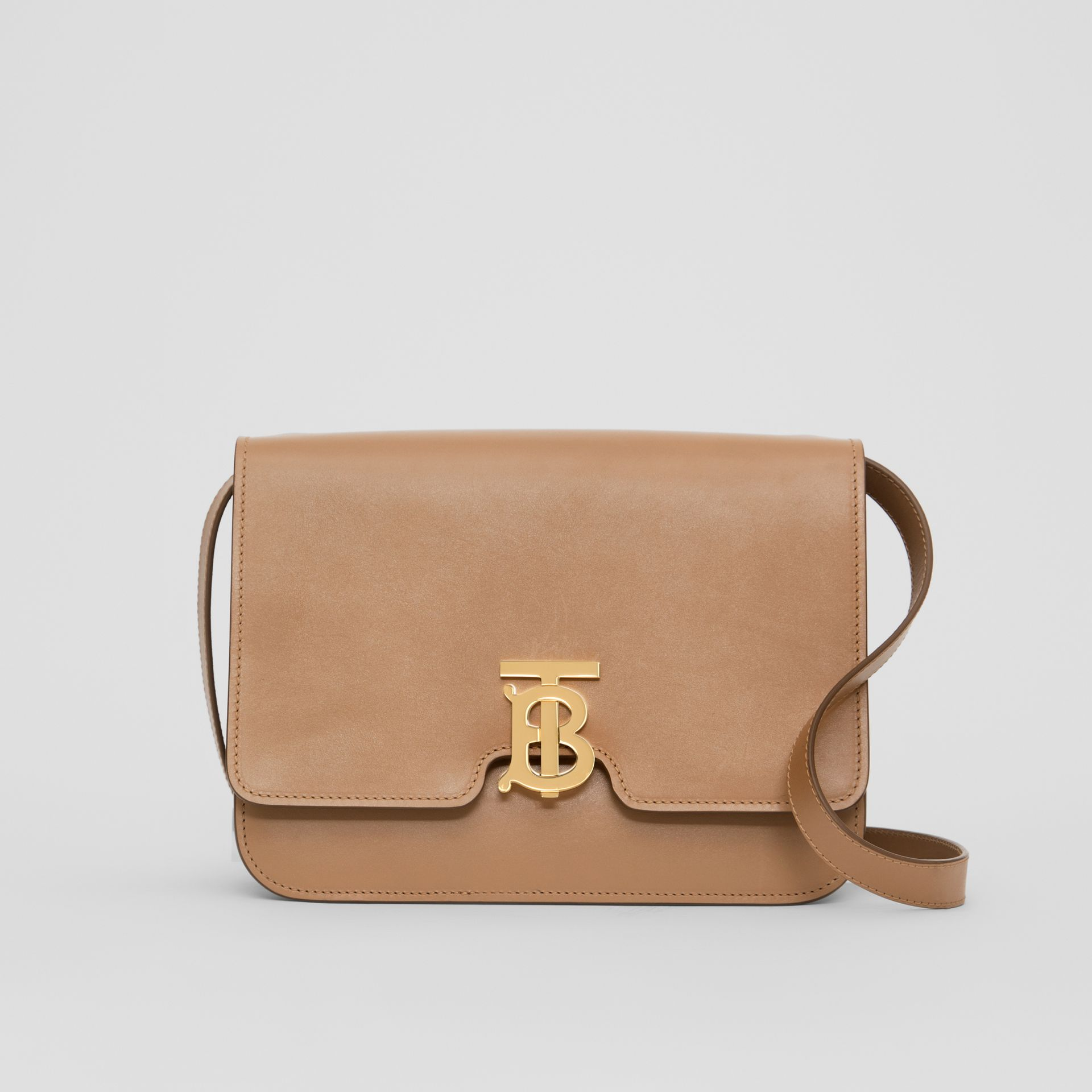 Medium Leather TB Bag in Light Camel - Women | Burberry Singapore - gallery image 0