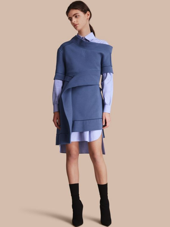 One-shoulder Sweatshirt Dress - Women | Burberry
