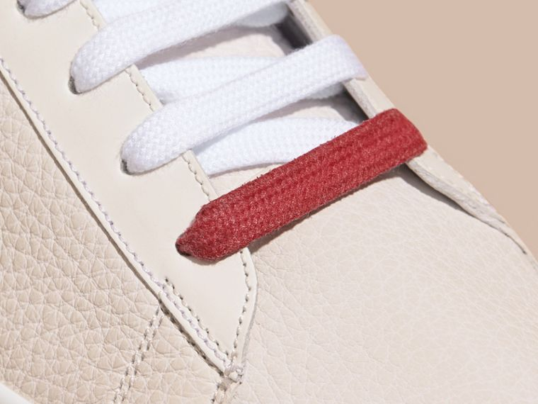 House check/optic white Check Detail Leather High-top Trainers House Check/optic White - cell image 1
