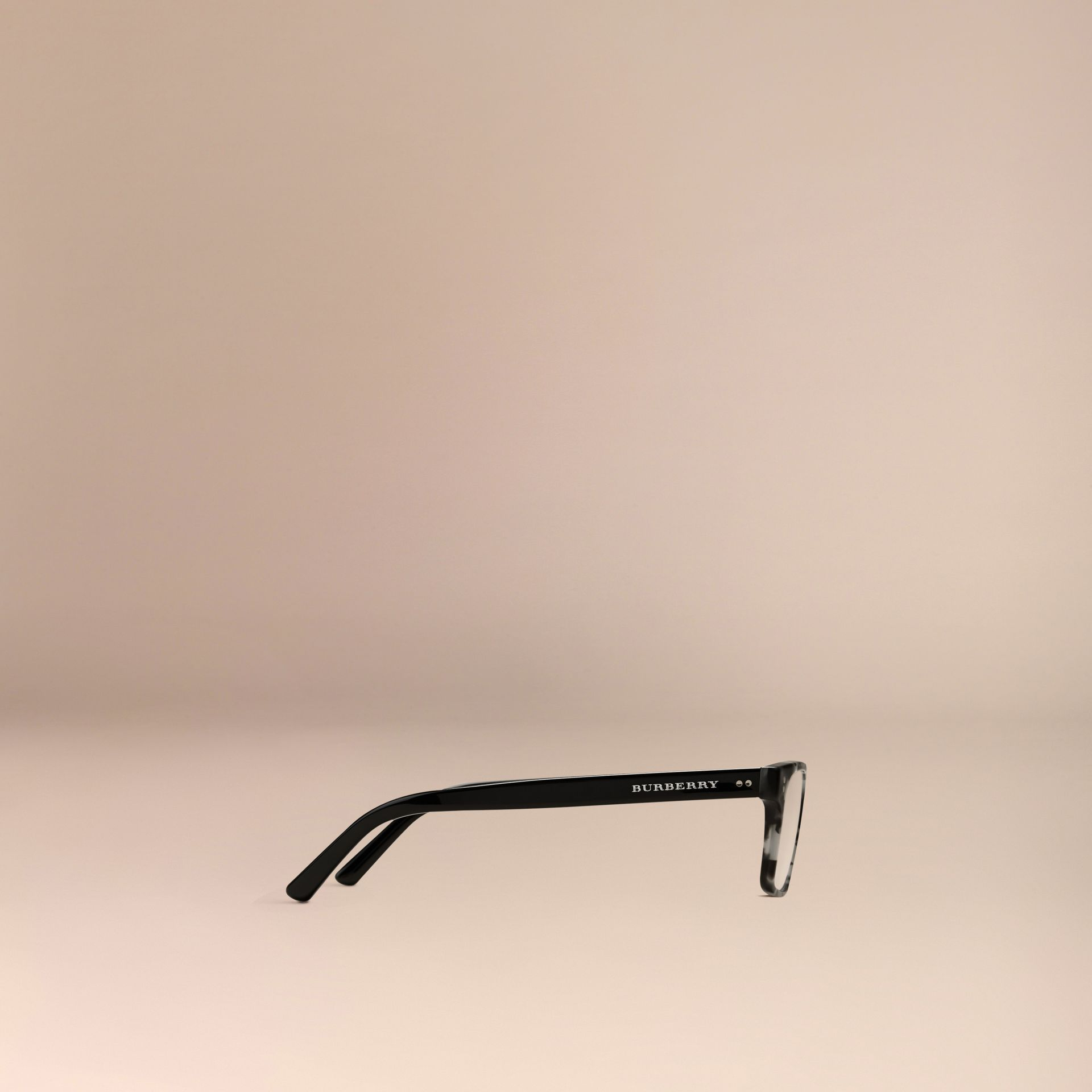 Rectangular Optical Frames Pale Grey Melange - gallery image 4
