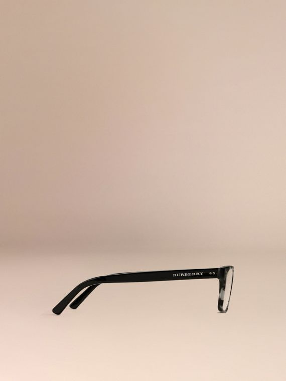Pale grey melange Rectangular Optical Frames Pale Grey Melange - cell image 3