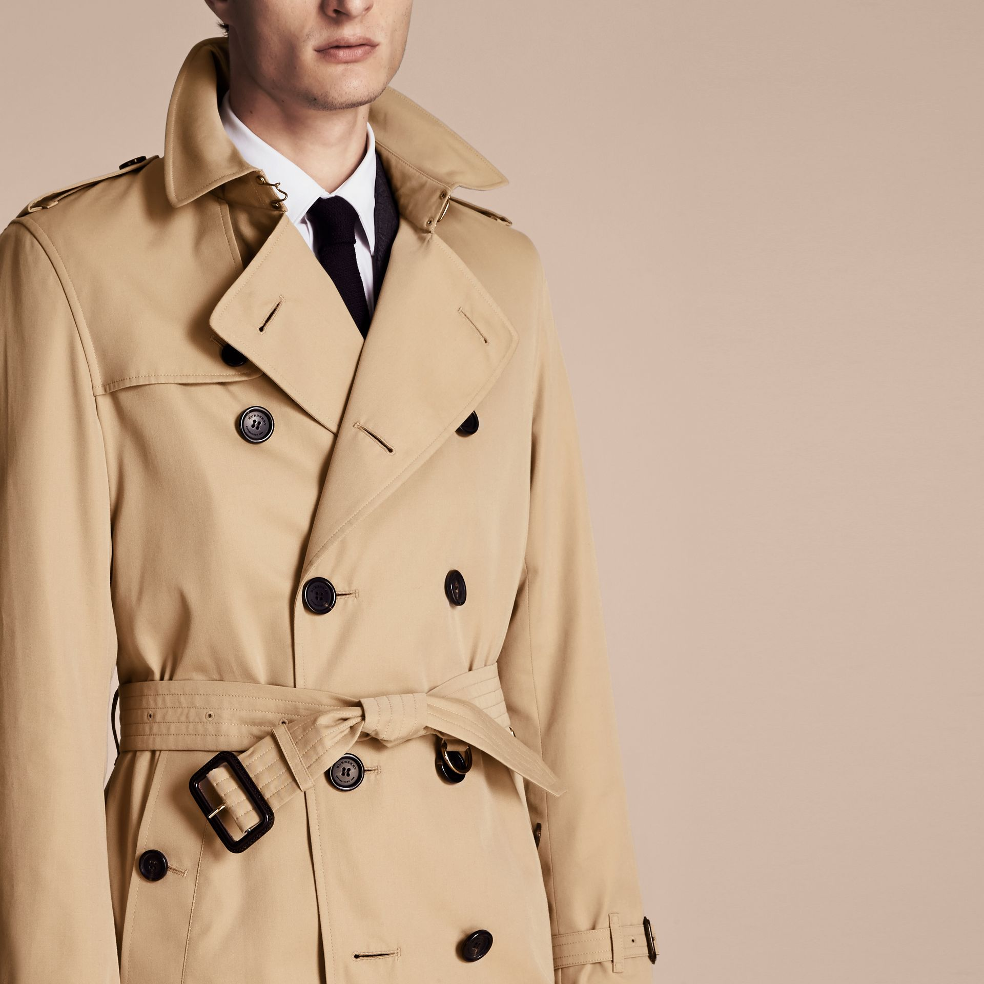 Honey The Kensington – Long Heritage Trench Coat Honey - gallery image 5