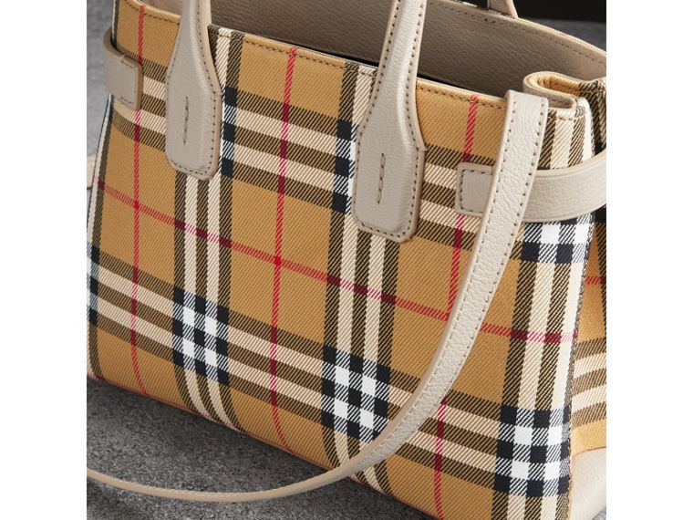 The Small Banner in Vintage Check and Leather in Limestone - Women | Burberry - cell image 4