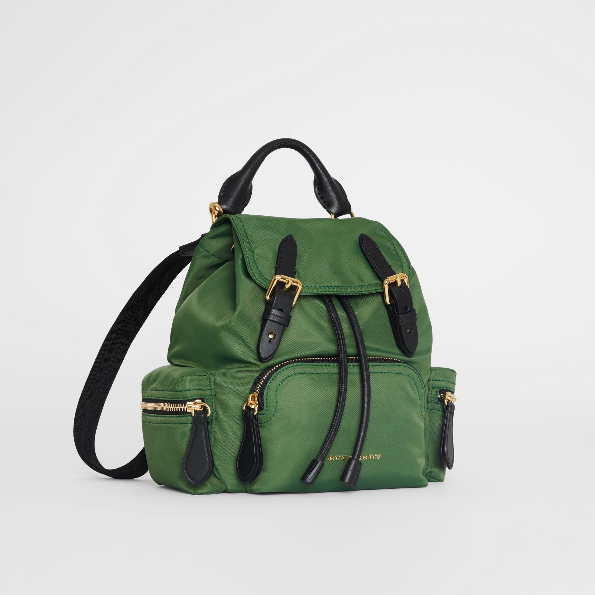 The Small Crossbody Rucksack in Nylon in Racing Green - Women | Burberry United Kingdom - gallery image 6