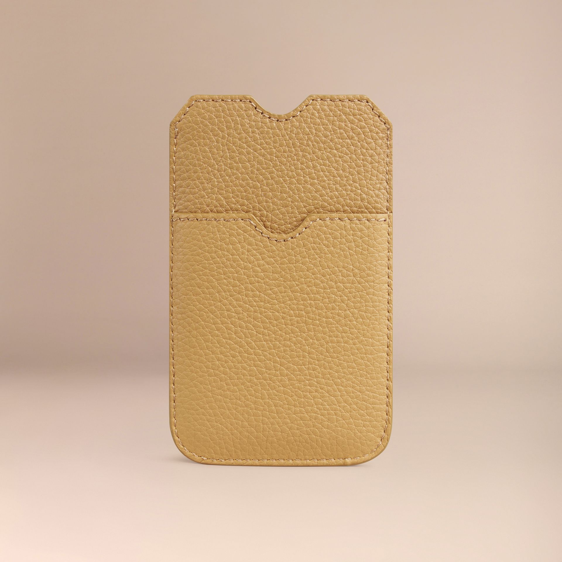 Grainy Leather iPhone 5/5S Case in Ochre Yellow | Burberry - gallery image 2