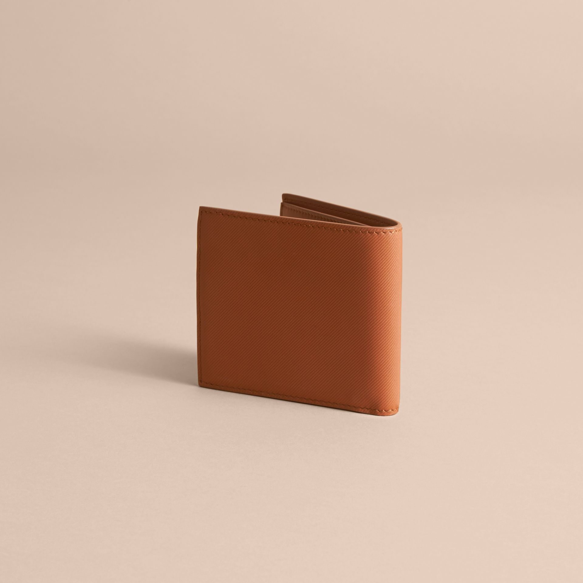 Trench Leather International Bifold Wallet in Tan - Men | Burberry Australia - gallery image 4