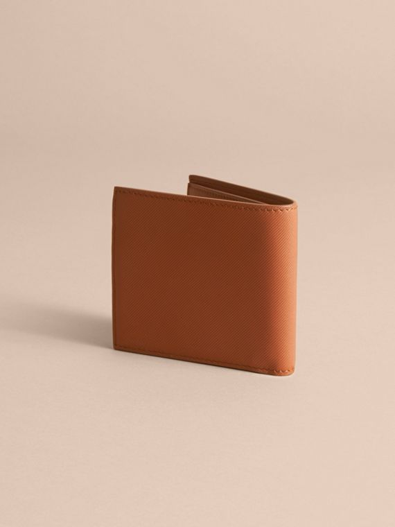 Trench Leather International Bifold Wallet in Tan - Men | Burberry Australia - cell image 3