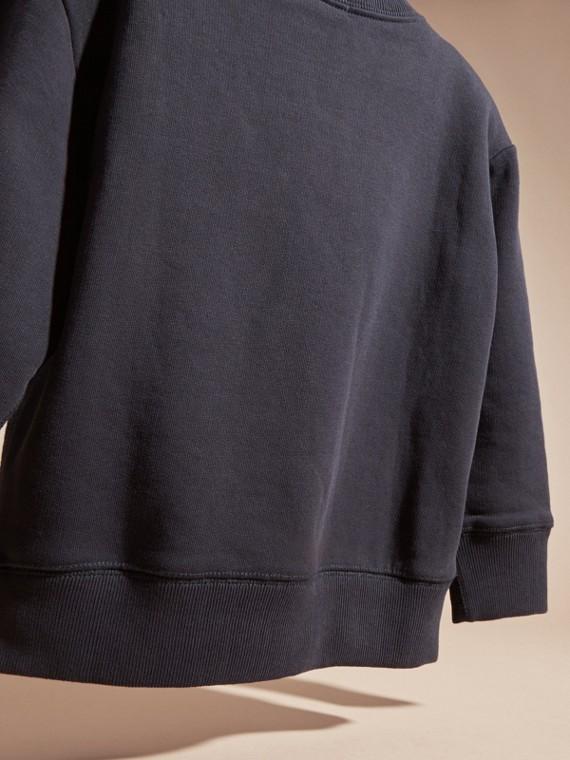 Dark navy Equestrian Knight Detail Cotton Sweatshirt Dark Navy - cell image 3