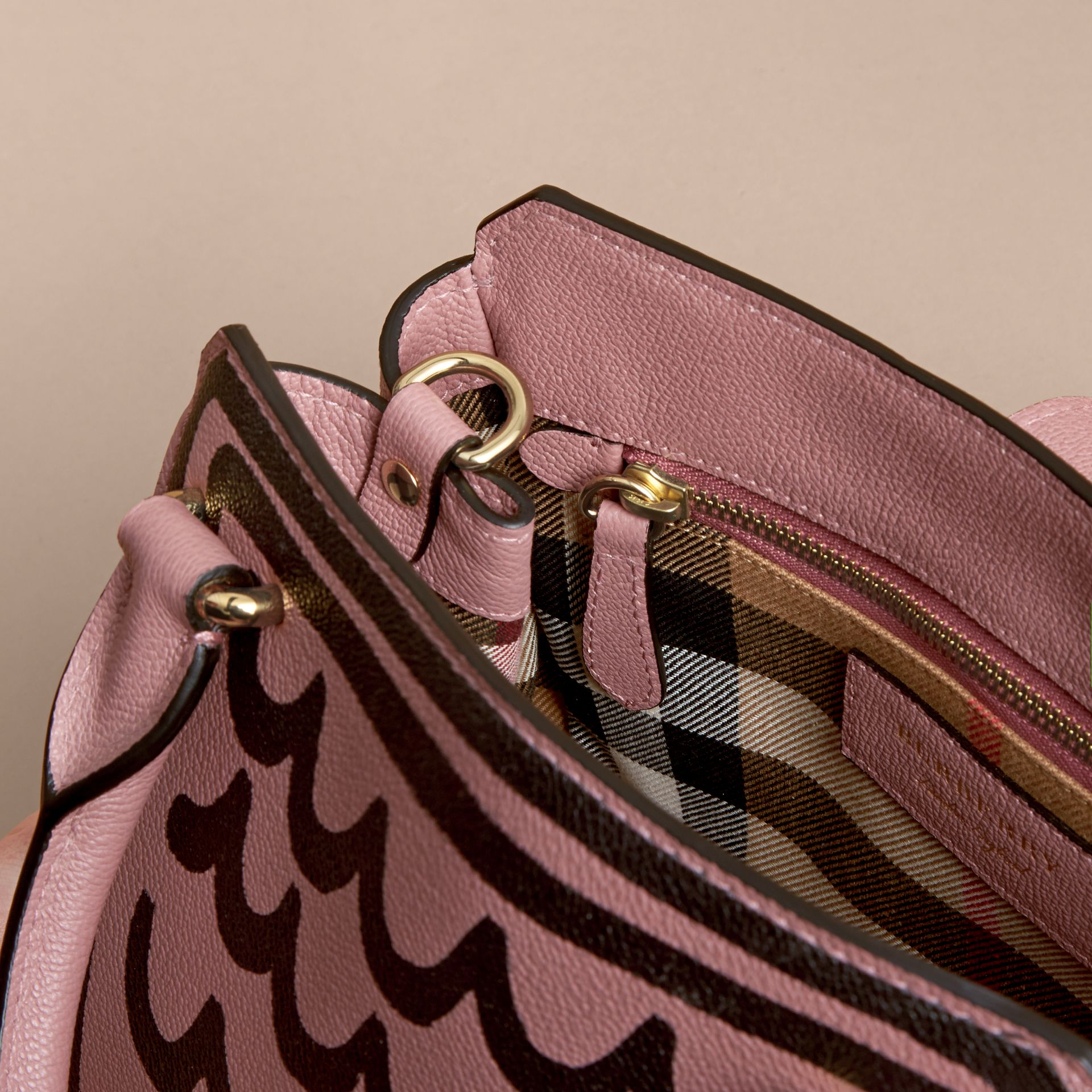 The Small Buckle Tote in Trompe L'oeil Print Leather - Women | Burberry - gallery image 6