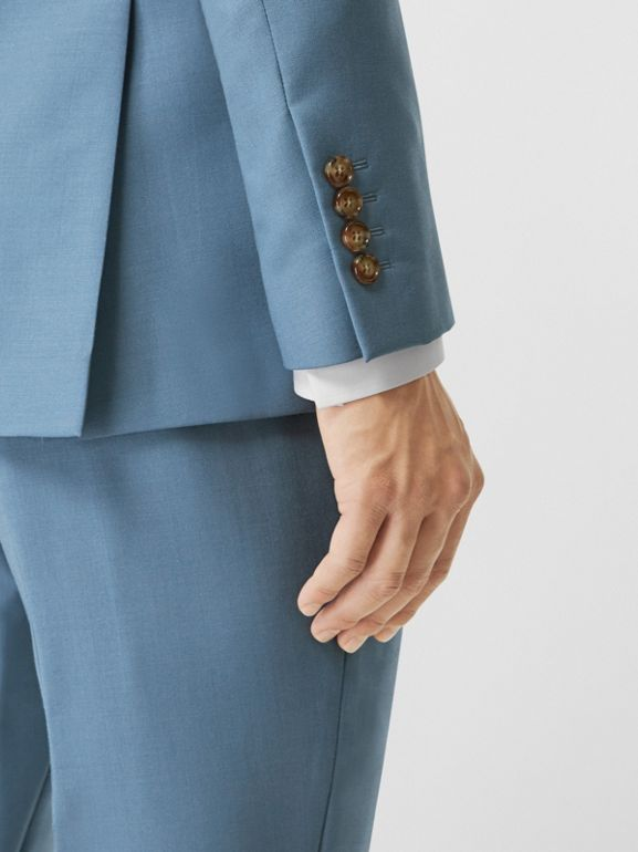 Пиджак в английском стиле из шерсти и мохера (Стальной Синий) - Для мужчин | Burberry - cell image 1