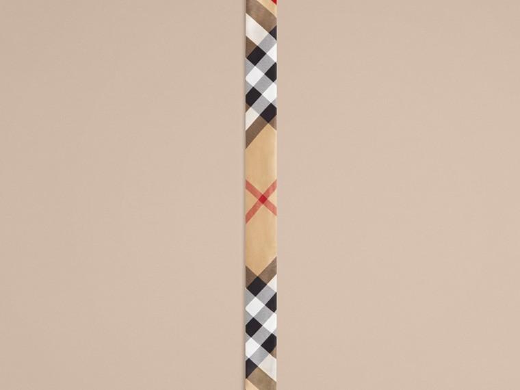 Cammello Sciarpa sottile in seta con stampa con motivo check Cammello - cell image 2