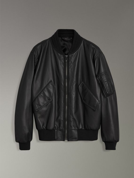 Lambskin Bomber Jacket in Black - Men | Burberry United States - cell image 3