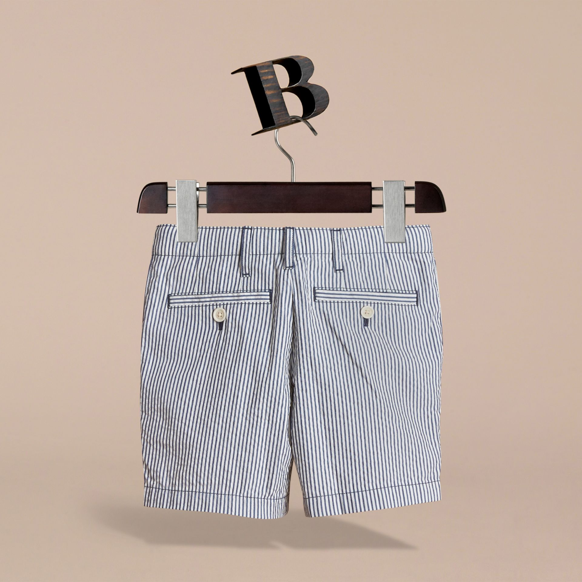 Striped Lightweight Chino Shorts - Boy | Burberry - gallery image 4
