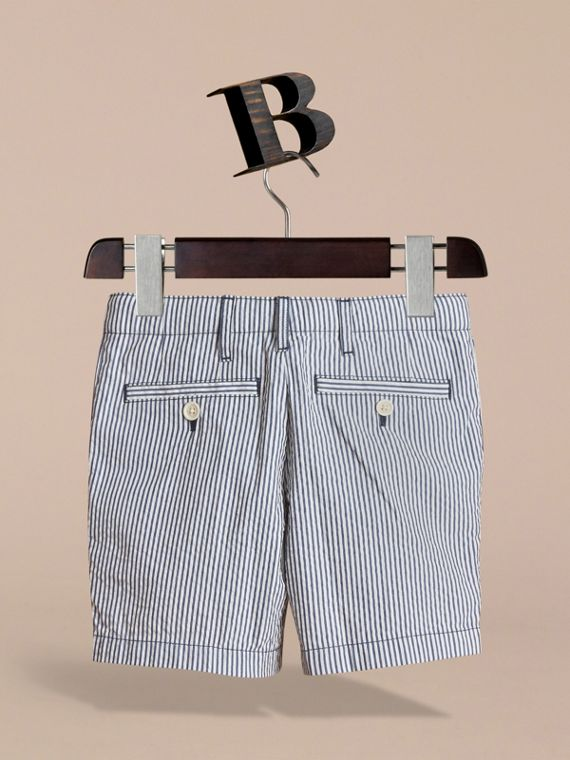 Striped Lightweight Chino Shorts - Boy | Burberry - cell image 3
