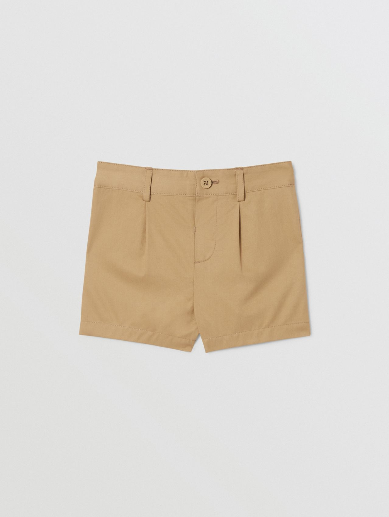 Logo Appliqué Cotton Twill Tailored Shorts in Archive Beige