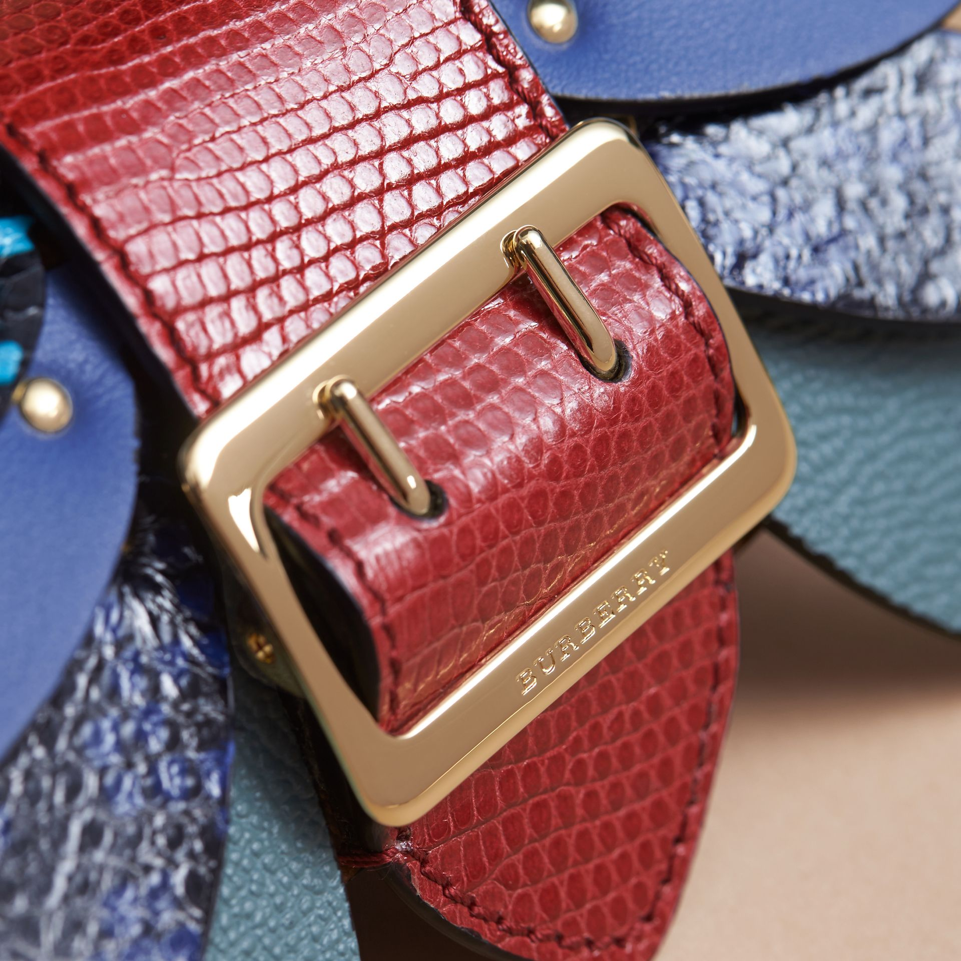 Snakeskin and Leather Appliqué Card Case in Bright Toffee - Women | Burberry Singapore - gallery image 2